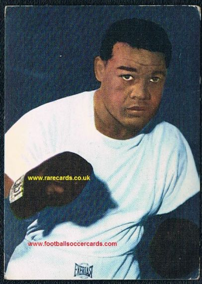 1960 Heinerle German boxing card Joe Louis